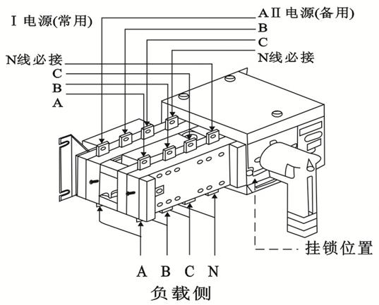 如何进行双电源的接线和安装?