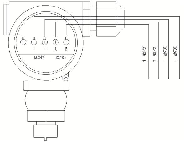 智能消防水源液位变送器接线图