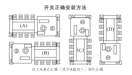 DHMQ-100型双电源自动转换开关的安装方法